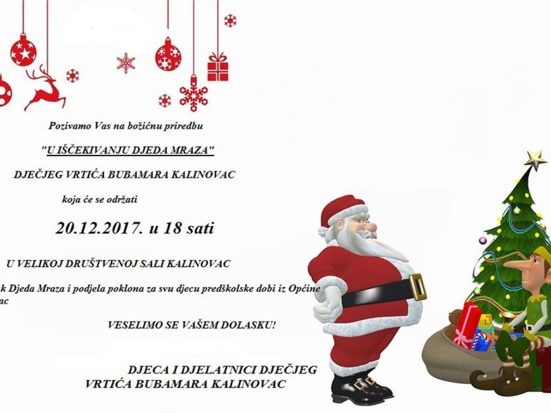 Božićna Priredba Dječjeg vrtića Bubamara Kalinovac