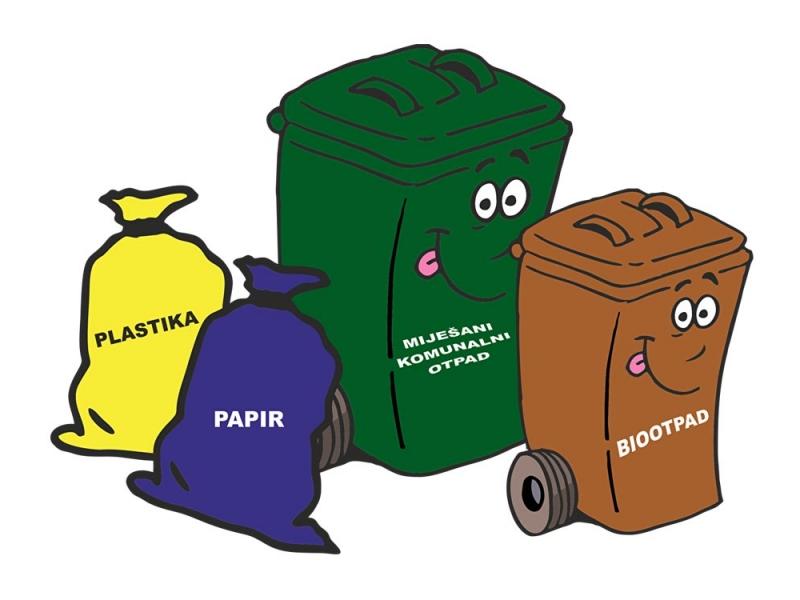 Obavijest o prikupljanju komunalnog otpada u 2019. godini