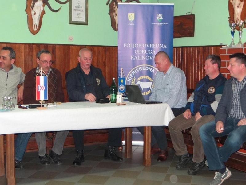 Održana redovna izvještajna godišnja skupština Poljoprivredne udruge Kalinovac
