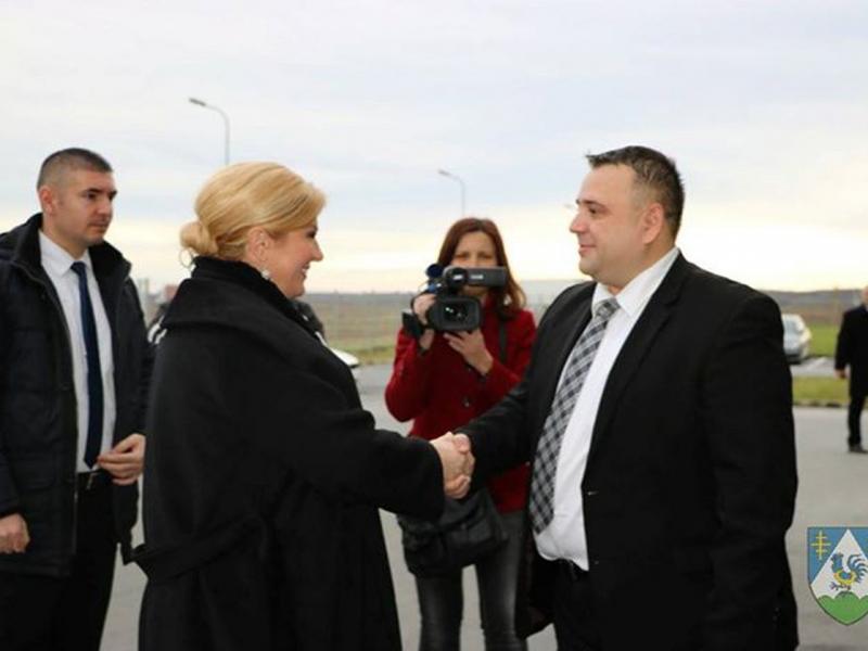 Predsjednica Republike Hrvatske Kolinda Grabar-Kitarović posjetila je Općinu Kalinovac i tvrtku Rasco