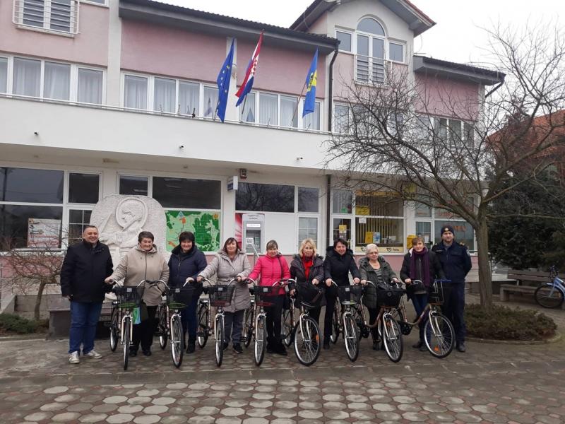 """Nabavljeni bicikli u sklopu projekta Zaželi - """"Brižne žene Podravske"""""""